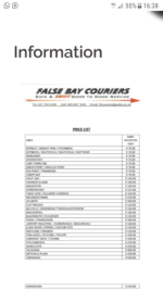 False bay couriers and services